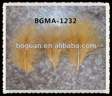 Three Earth Yellow Marabou Feathers