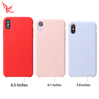 Shockproof luxury microfiber Rubber cellphone back cover liquid silicone phone case for iphone xr xs max x 8 7 7Plus 8plus
