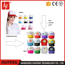 Sublimation blank cheap promotion custom peaked cap /base ball/sports/golf/hat for heat transfer printing
