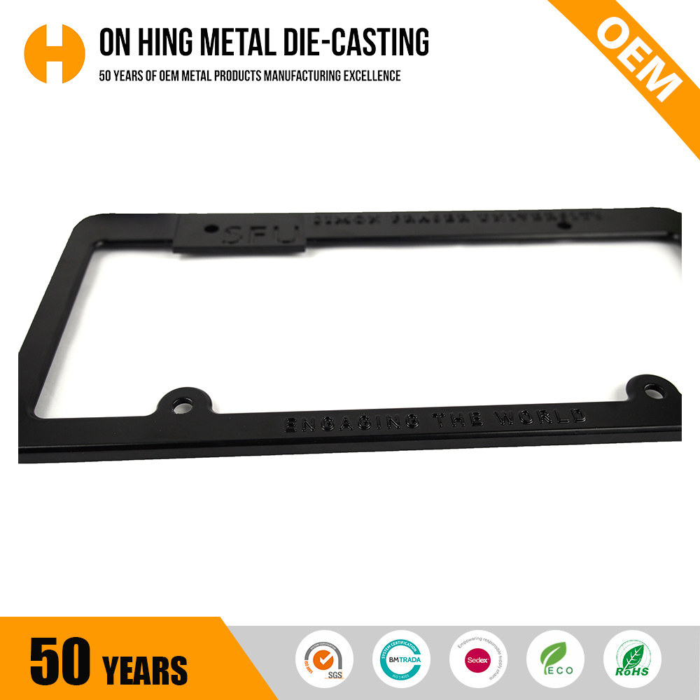 China Factory Universal Plastic European License Plate Frame