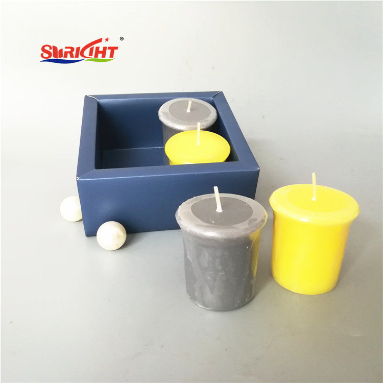 2 Color Lime Scented Table Top Smokeless Votive Candle Pack
