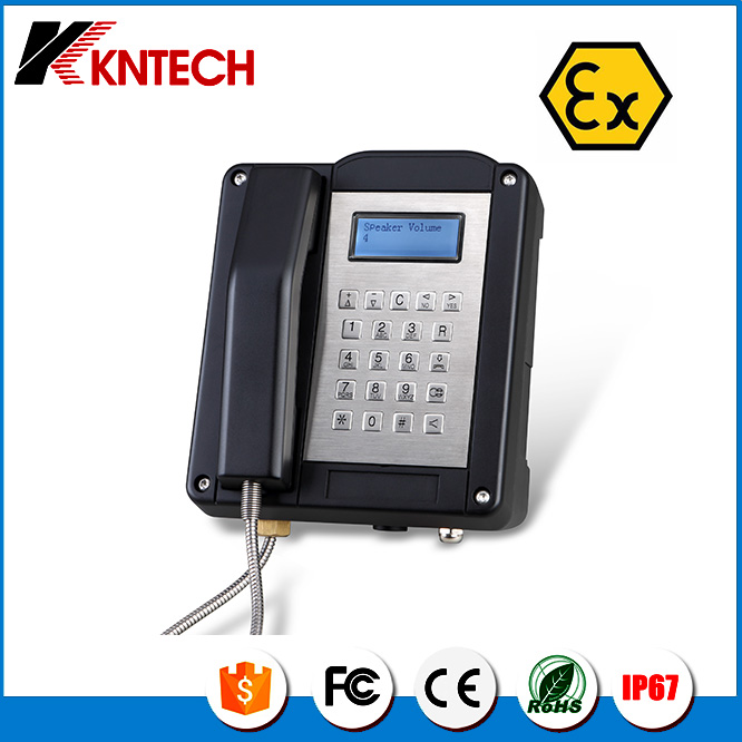 Kntech Explosion proof telephone IECEx hazard area KNEX1 waterproof phone