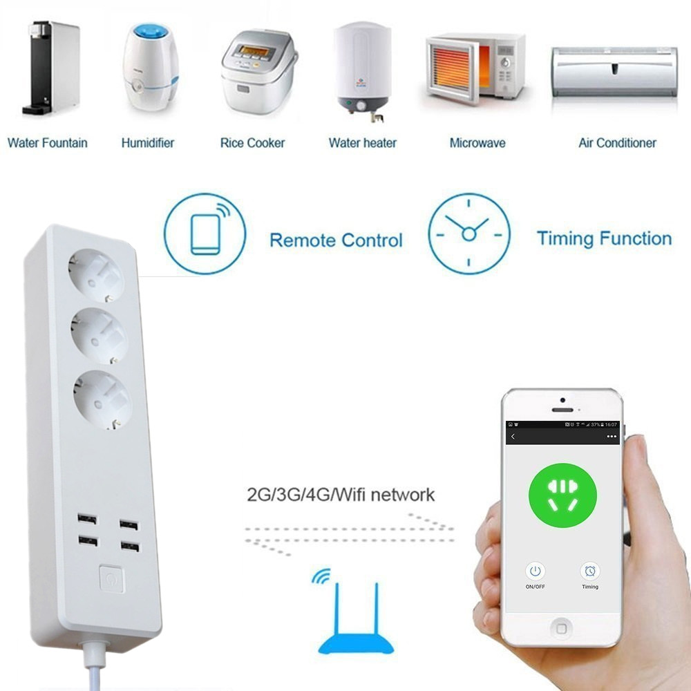 Smart Power Strip 240v Suppliers And Xiaomi Mi Plug Adapter With Remote Control Functio Manufacturers At
