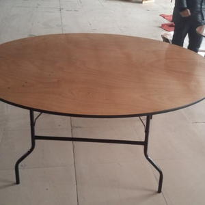 Wholesale 8ft Round Wooden Banquet Golding Hotel Table