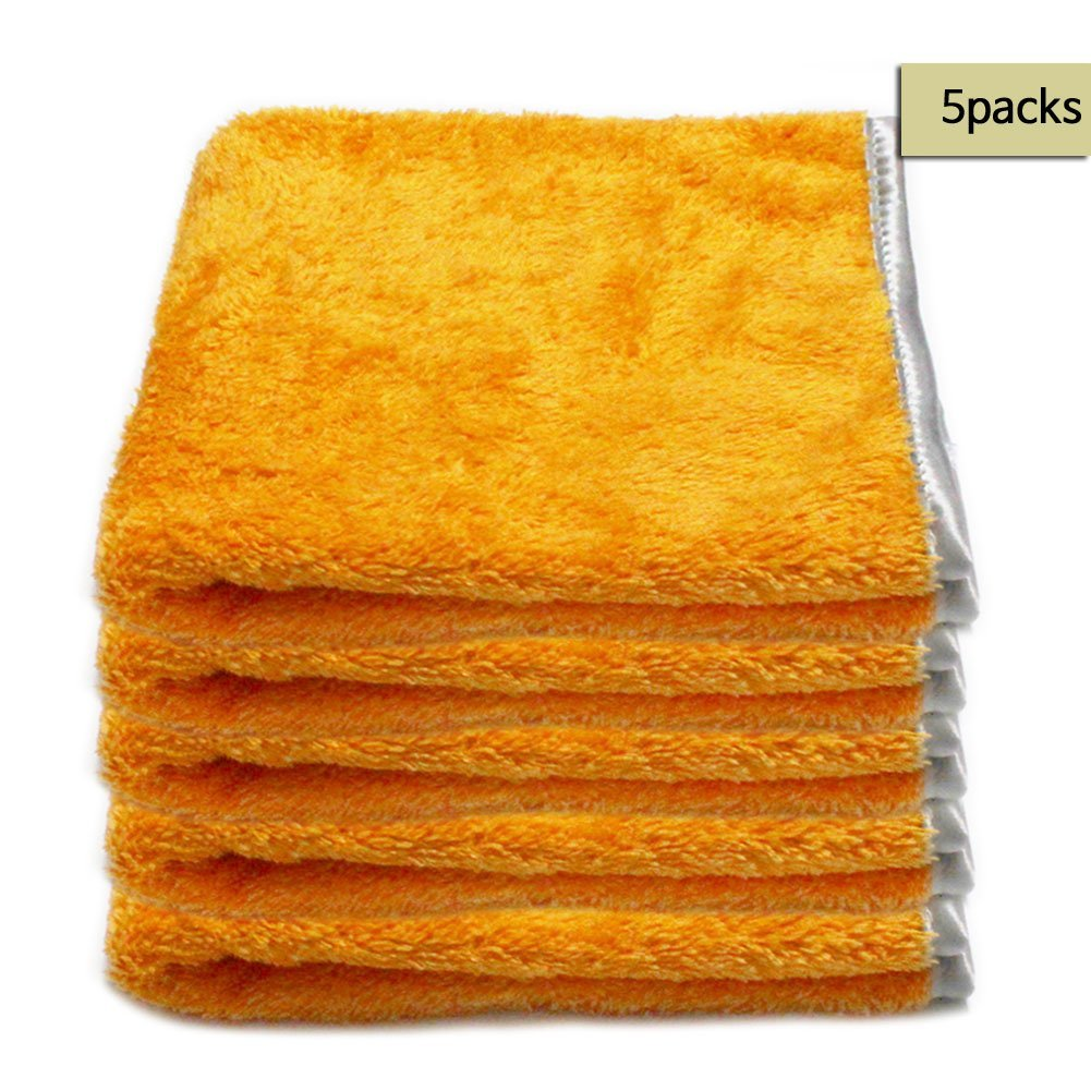 ** FREE SHIPPING & SALES 5 PCS ** Microfiber Car Buffing /Wax/Detailing Towels in ORANGE , Fluffy fine piles & Satin Wrapping border, ,15x23 '',Korean Quality Products Guarantee