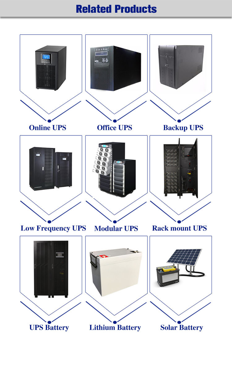 New design LCD display modular online 45 kva ups power supply for computer