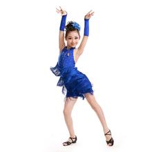 Vestidos para meninas vestidos bainha de fluxo Sula Ding borla roupas de dança para crianças criança princesa vestido de dança latina dancewear
