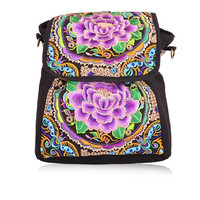 2016 New Design fashion bags for ladies ethnic embroidery backpack