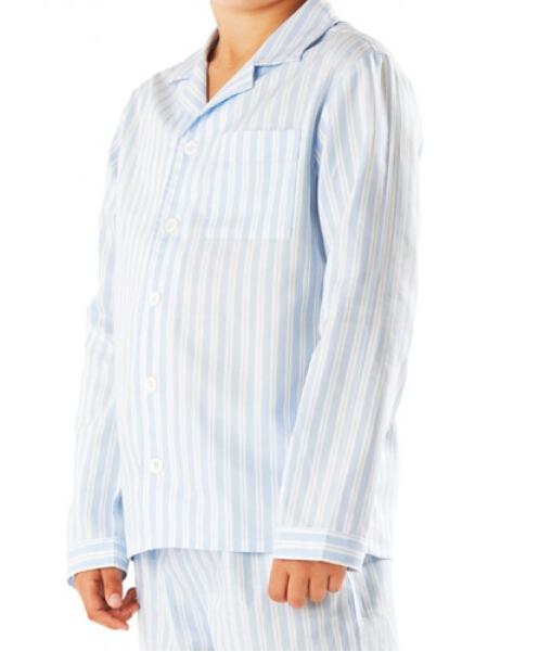 Boys Traditional Blue & White Striped Pyjamas - Buy Mens Striped ...