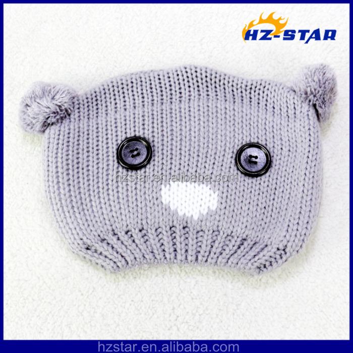 Hzm-13983011 Al Por Mayor Crochet Moda Pompom Botón Oso Del Bebé De ...