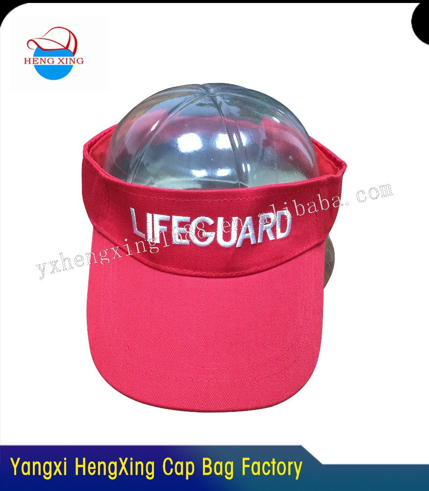 2016 High quality 100% cotton visor cap made in China