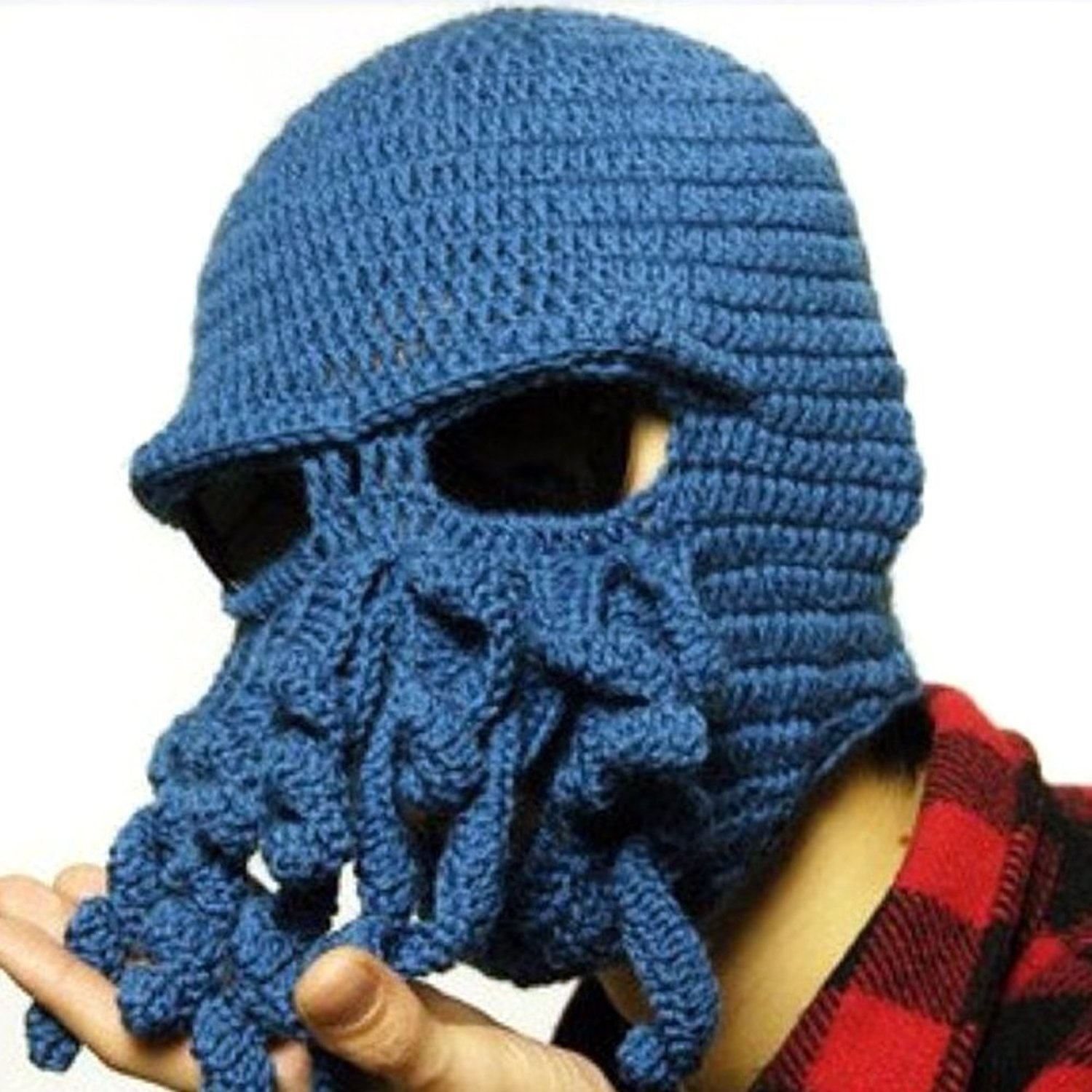 3a667f4df76 Get Quotations · VBIGER Beard Hat Beanie Hat Knit Hat Winter Warm Octopus  Hat Windproof Funny For Men
