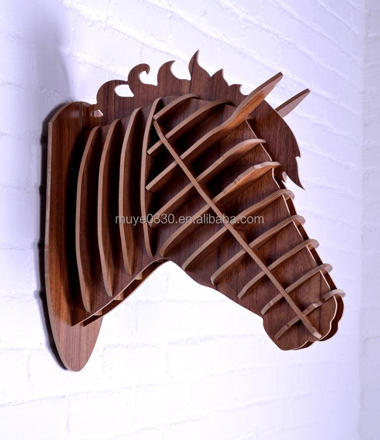 Estilo de pa s americano decoraci n 3d madera cabeza de for Decoracion estilo americano