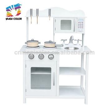 New Cheapest White Wooden Pretend Play Kitchen For Kids W10c404 - Buy Play  Kitchen,Pretend Play Kitchen,Pretend Play Kitchen Product on Alibaba.com