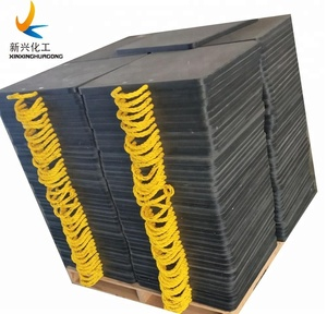 durable high quality UHMWPE round outrigger pad / crane foot support