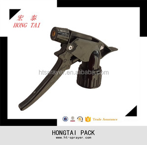 Plastic water spray Long handle air pressure trigger sprayers with copper nozzle head HT-A