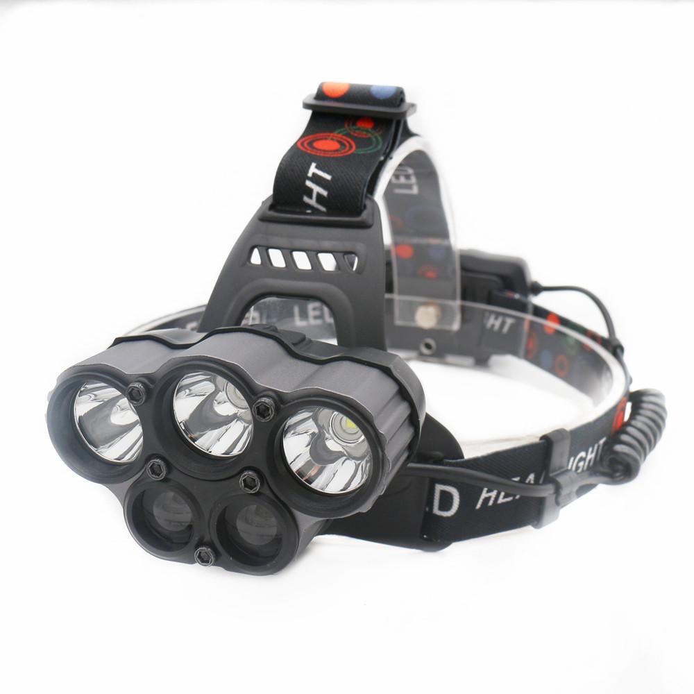 100000 T6+XPE LED Headlamp Camping Head Torch Flashlight Lamp+18650 Battery BT