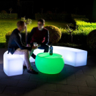round park bench / outdoor bench with cooler (cbs120)
