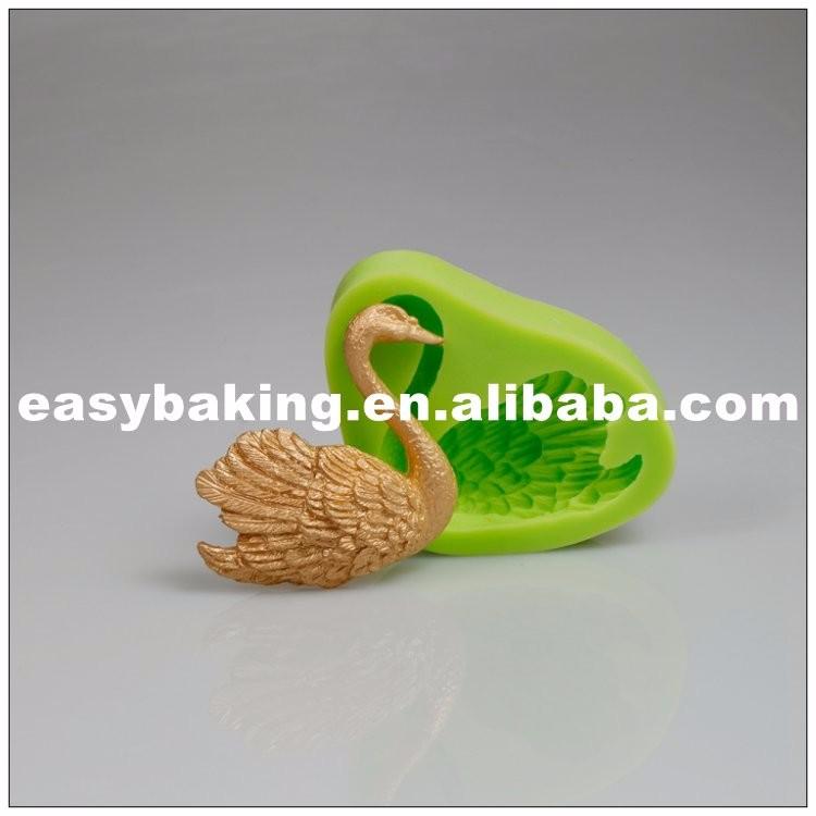 Beautiful Swan Shaped Fondant Silicone Molds for Cake Decoration ES-1501