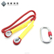 Hot sale nylon dynamic polyester strap climbing rope with carabiner