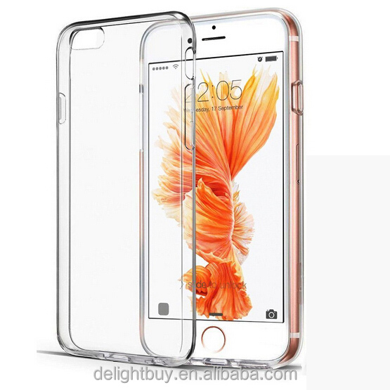 clear PC back case for iphone 6 / 6s, side/frame is soft TPU 360 fully <strong>protect</strong>
