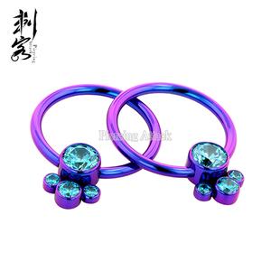 Titanium Cluster Captive Bead Ring Piercing Jewelry