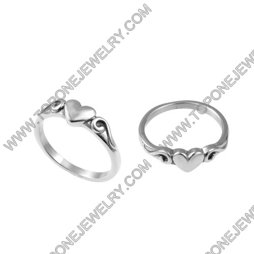 Cheap used irish wholesale stainless steel celtic heart engagement rings