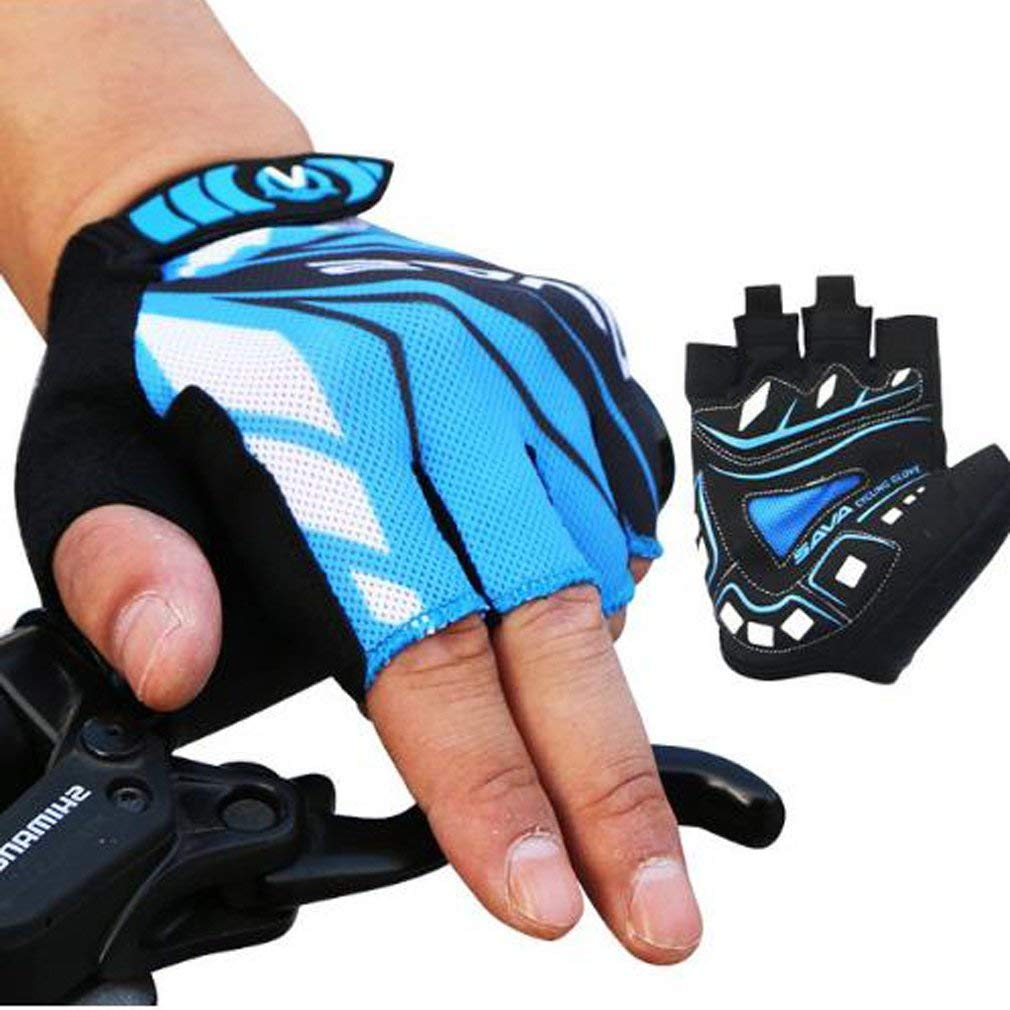Cycling Riding Gloves Men Half Finger Lycra Breathable Road Bike Bicycle