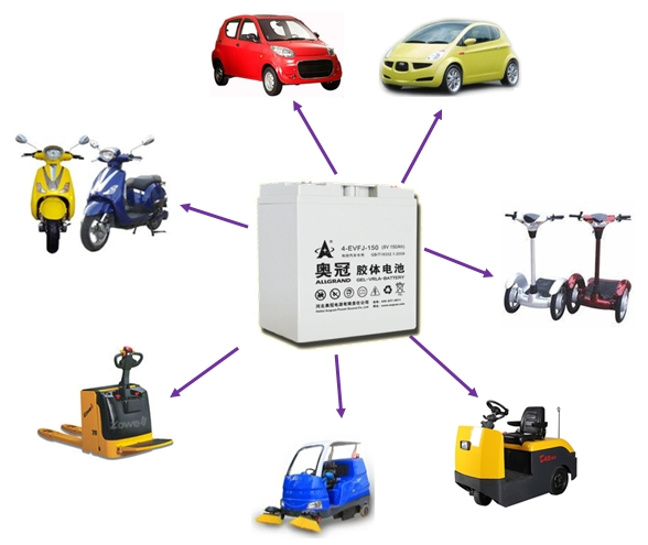 car battery 6V200Ah / electric car battery/auto battery 6v200ah