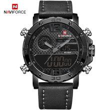 NAVIFORCE Лидирующий бренд Для мужчин армии спортивные часы Водонепроницаемый светодиодный цифровой аналоговый Кварцевые наручные часы Для му...(Китай)