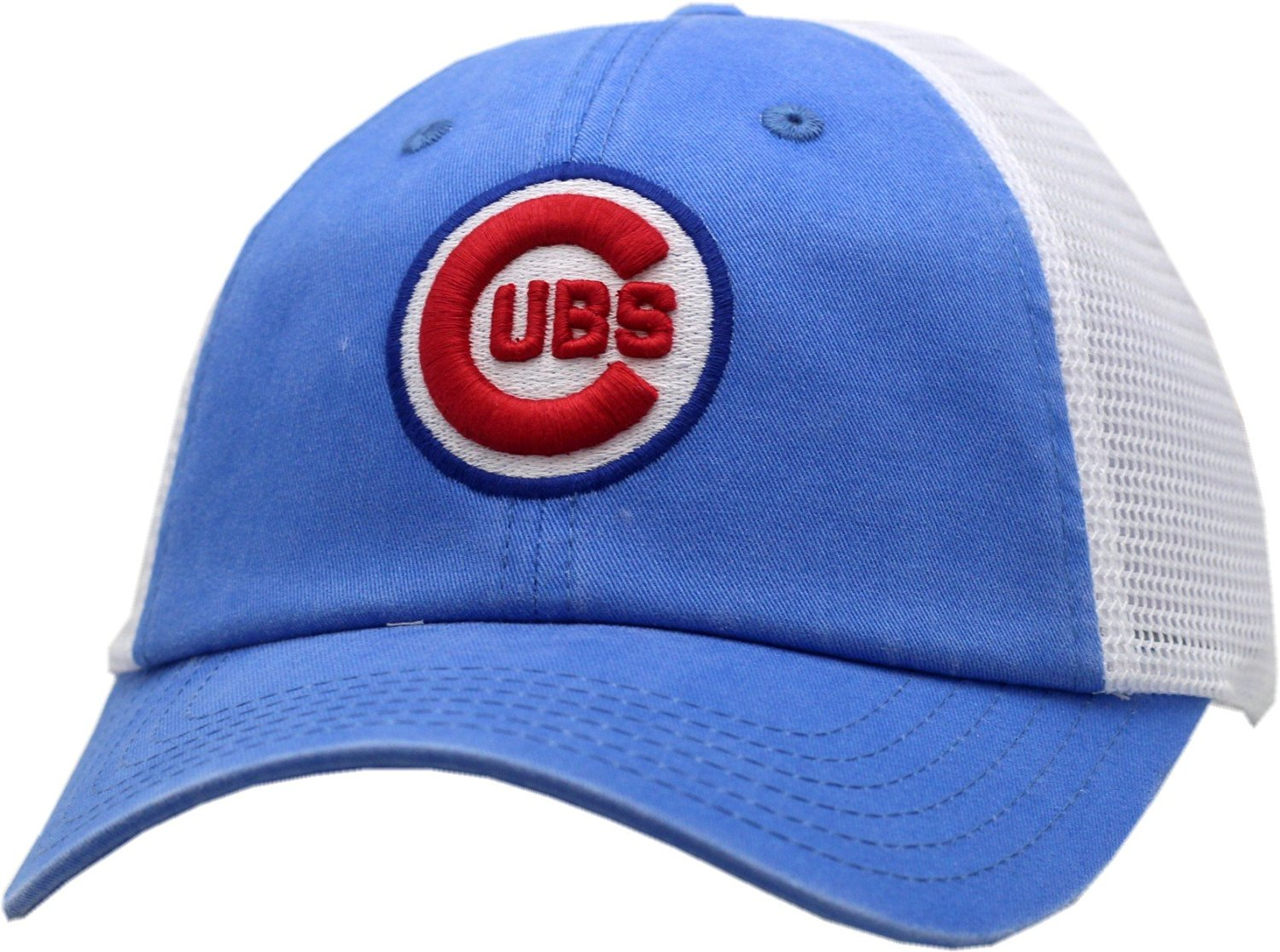 1082f29aad7 Get Quotations · Chicago Cubs Raglan Bones Trucker Snapback Hat-9866