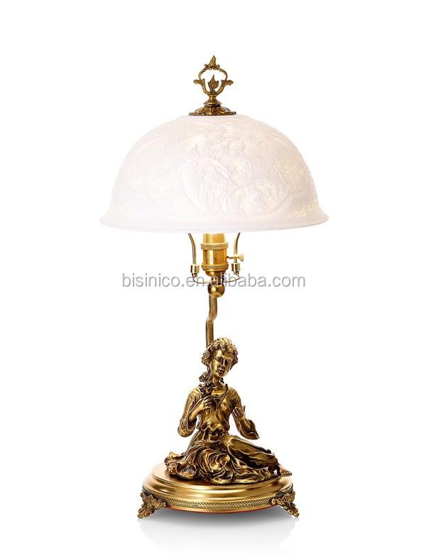 abat jour fille Style européen Lampe de Table Avec Émail En Porcelaine Abat-Jour  Fantastique Fille Figurine Statue