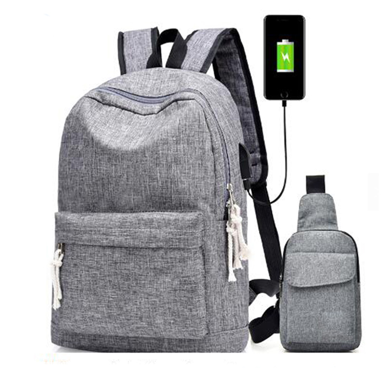 Hohe Qualität Neue Design Lässig Beliebte USB Lade Rucksäcke Reise Unisex Student Schulrucksack Für Jugendliche
