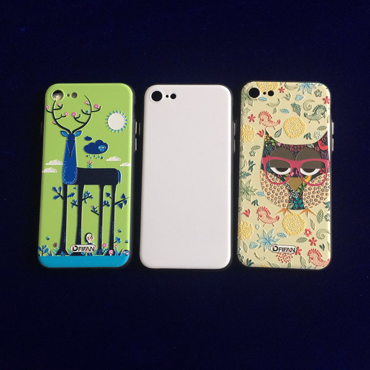 DFIFAN Custom printing white hard pc blank phone case for iphone 7 ,3D Sublimation Personalized phone case for iphone 7