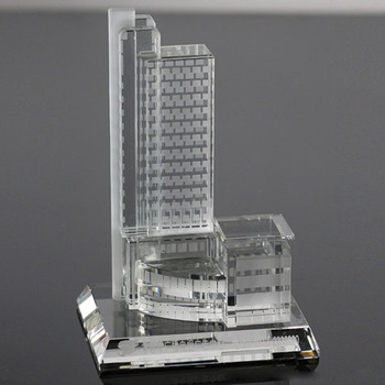 2014 new miniature 3d famous crystal building model