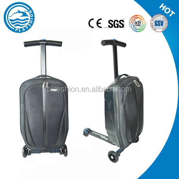 Scooter Luggage,Kids Scooter Suitcase,Black Man Business Trolley ...
