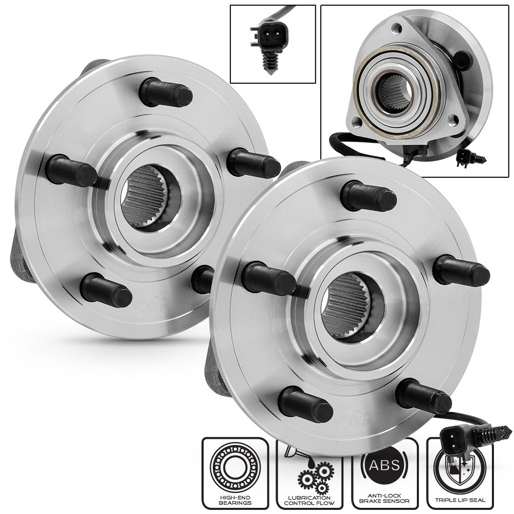 cheap dodge 1500 wheel bearing find dodge 1500 wheel bearing deals 05 F250 4x4 get quotations dodge nitro jeep liberty 513270 pair of 5 bolt front wheel hub and bearing