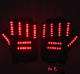 OP-S LED Glowing Gloves 12V Button - LED Gloves Illuminated 12V Button Drive Performance LED Double Gloves