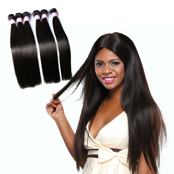 2015 Full Culticle 7A Grade 20 22 24 Inch Silky Straight Brazilian Hair Weave bundles Wholesale