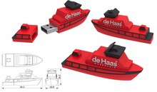 Promotional Gifts 2017 Novelty Gadgets Boat Shape USB Flash Drive 5 Years Warranty Advertising Custom USB Stick 2.0