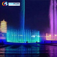 Straight Shooting Floating Large Water Fountains Outdoor Night Lake Show