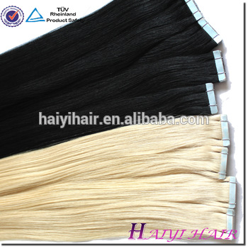 Double Drawn Human Hair Extension Black Women Tape Hair Extenion