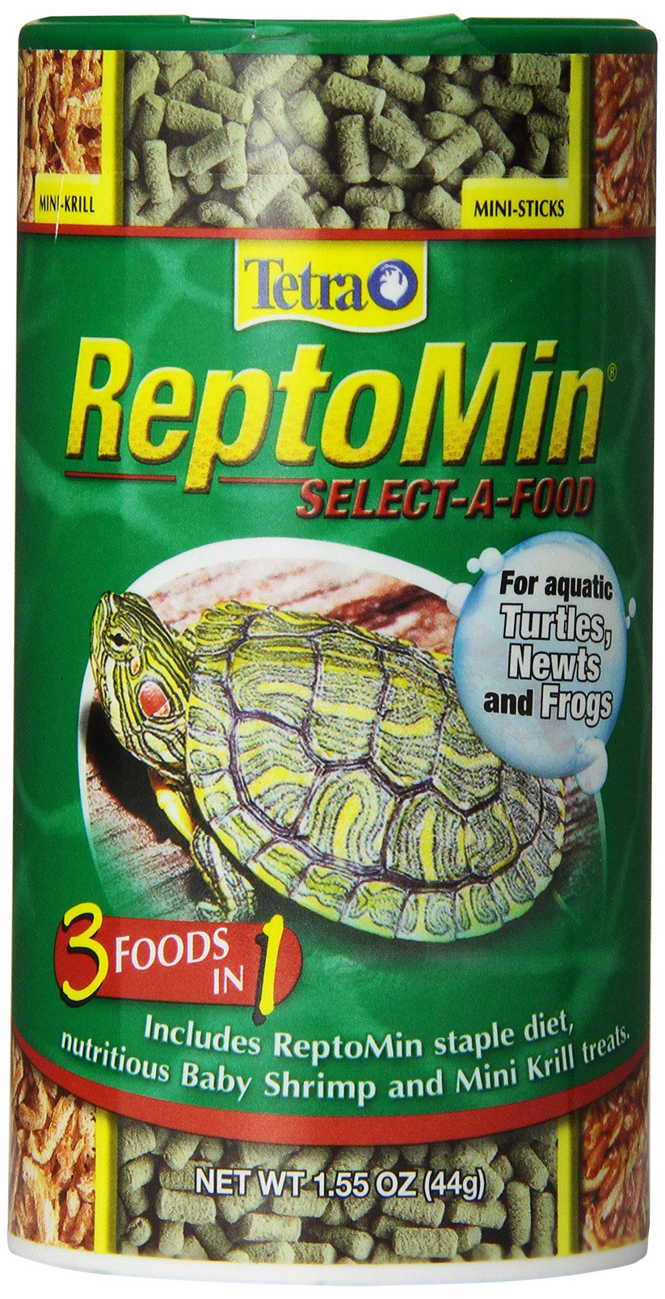 Tetra TetraFauna ReptoMin Select-A-Food for Aquatic Turtles, Newts & Frogs