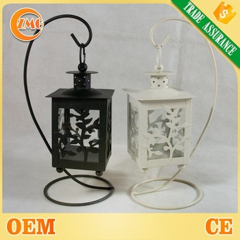 Wholesale Cheap Elegant Flower Design Fancy Whiteblack Metal Candle