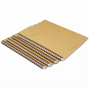 B5 Size OEM Fancy Thickness Craft Paper Spiral Coil Binding Printing Notebook For School