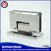 90 degree wall to glass heavy duty stainless steel glass door pivot hinge