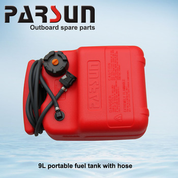 9l outboard motor portable fuel tank with fuel hose buy for Outboard motor gas tank hose