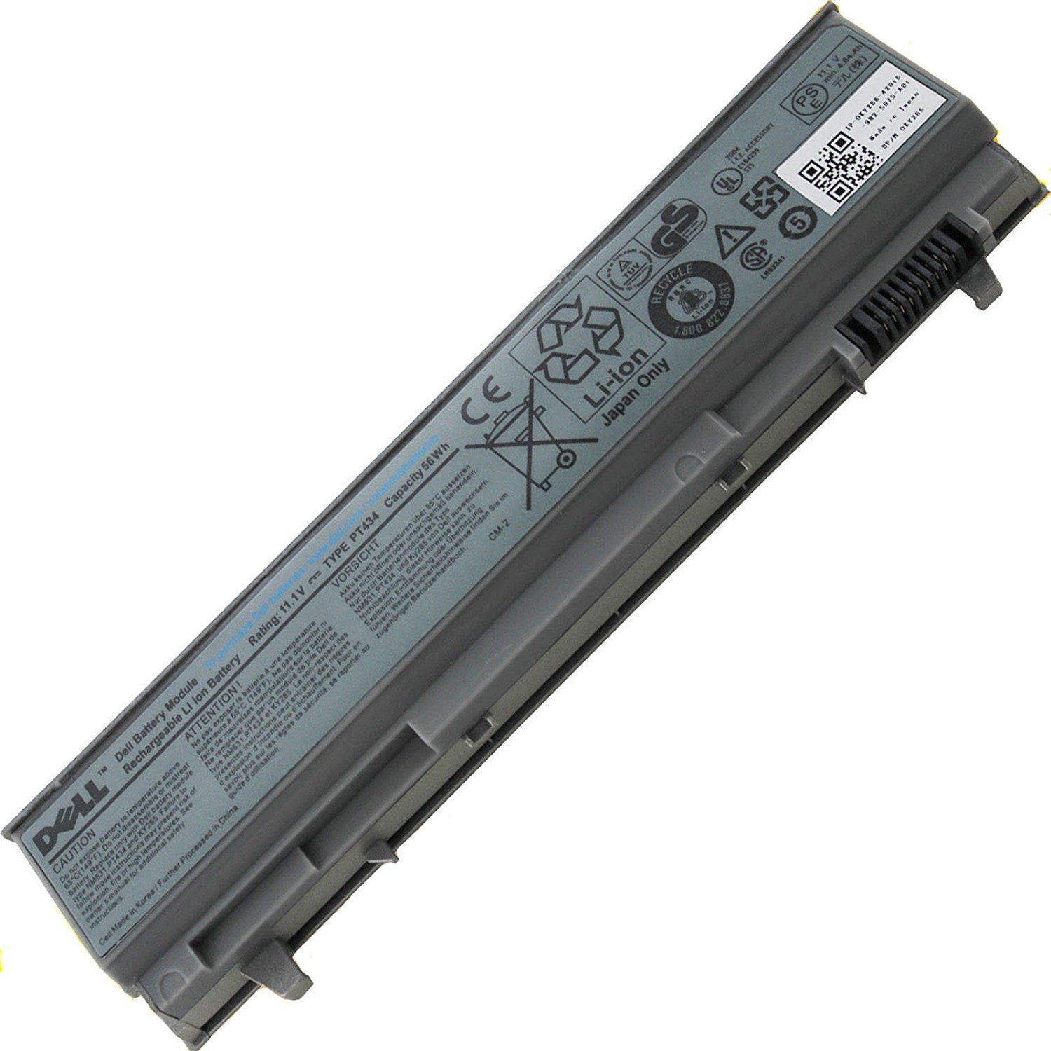 GENUINE ORIGINAL Battery DELL LATITUDE E6400 E6410 E6500 W1193 KY265 PT434 PT437