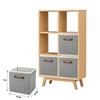 Household Save Space Non Woven Fabric Foldable Non Woven Storage Box Closet Organizers