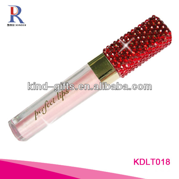 Bling Rhinestone Pink Lip Gloss Tube